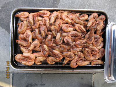 Home smoked prawns with Aioli