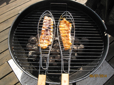 Grilled Redfish with new Danish potatoes and